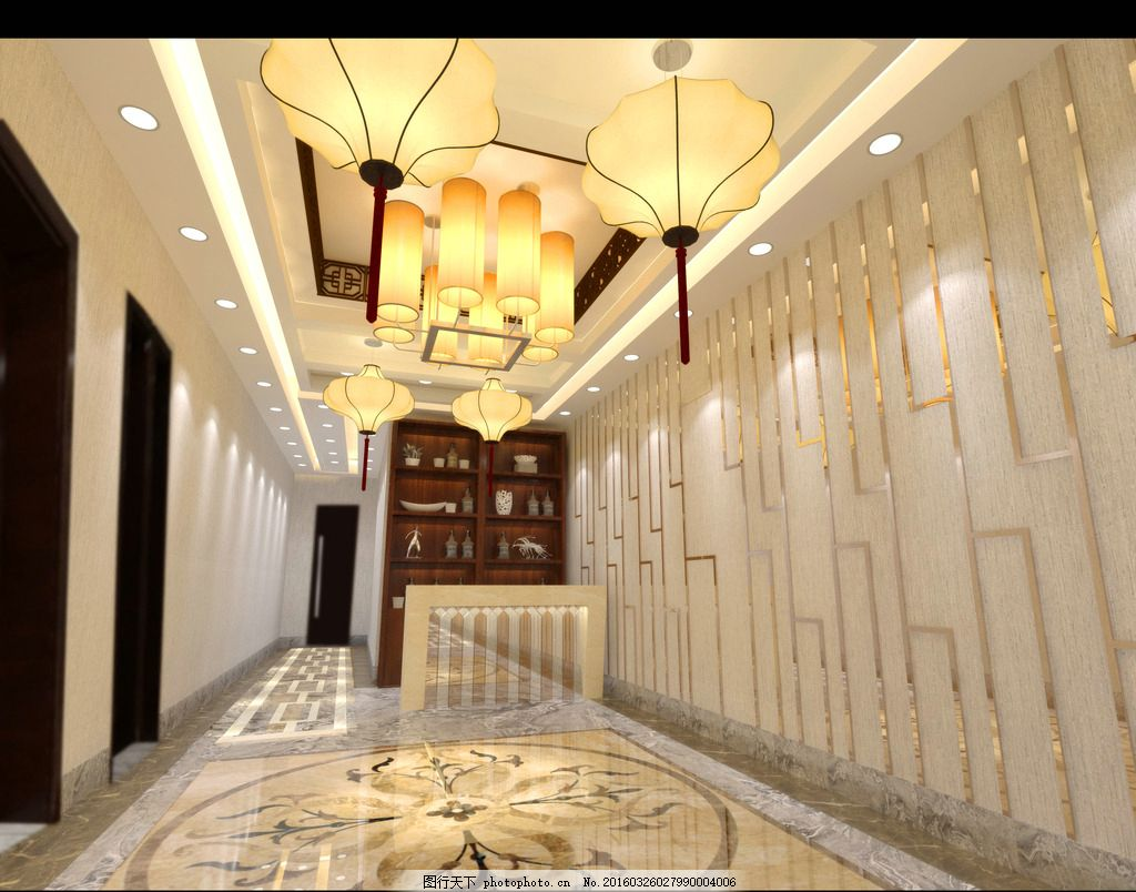 走廊 走廊设计 走廊效果图 饭店走廊 火锅店走廊 设计 环境设计 室内