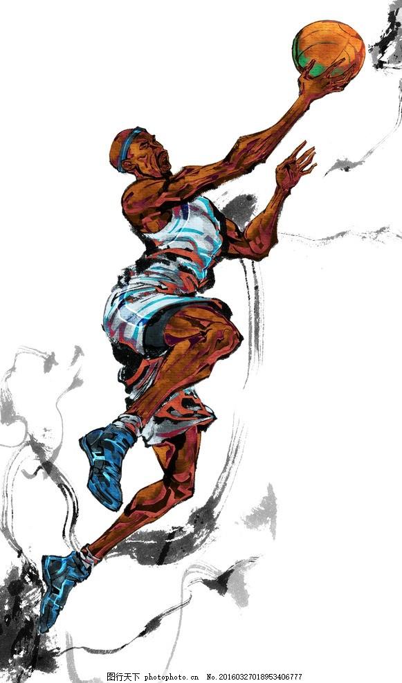 模版下载 手绘人物 手绘运动员 运动员 篮球运动员 篮球 nba cba 科比
