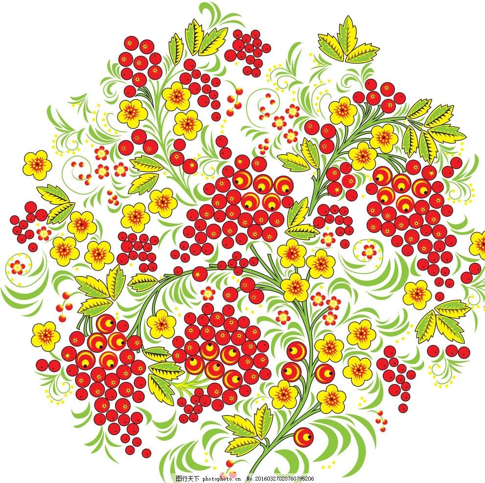 手绘花纹 图片下载 精美花纹 花纹贴图 圆形花纹 花开富贵 中国风