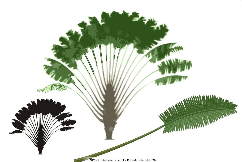 树矢量图 树矢量 叶子 绿叶 树木树叶 叶素材 绿叶素材 生态树 健康树