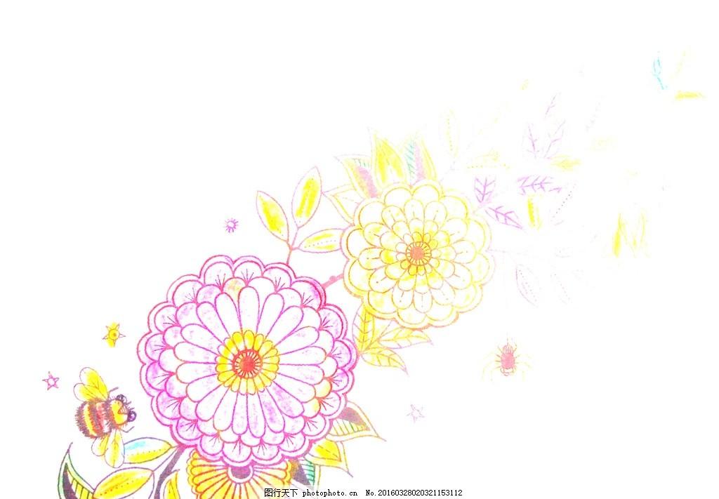 手绘花纹底图背景