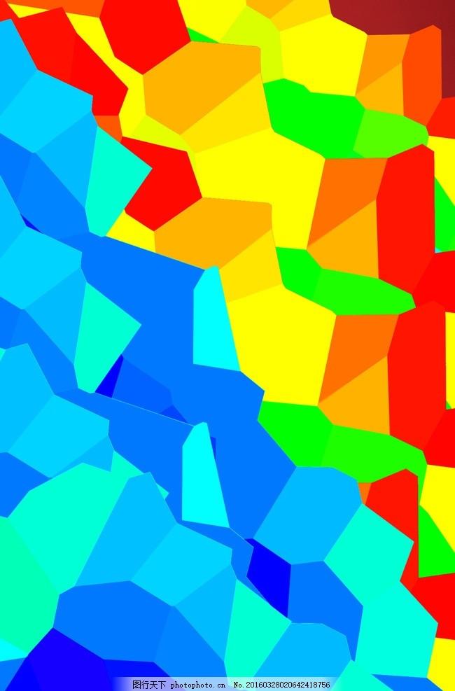 彩色幾何塊 幾何 色塊 色彩 背景 圖形 設計 底紋邊框 抽象底紋 300