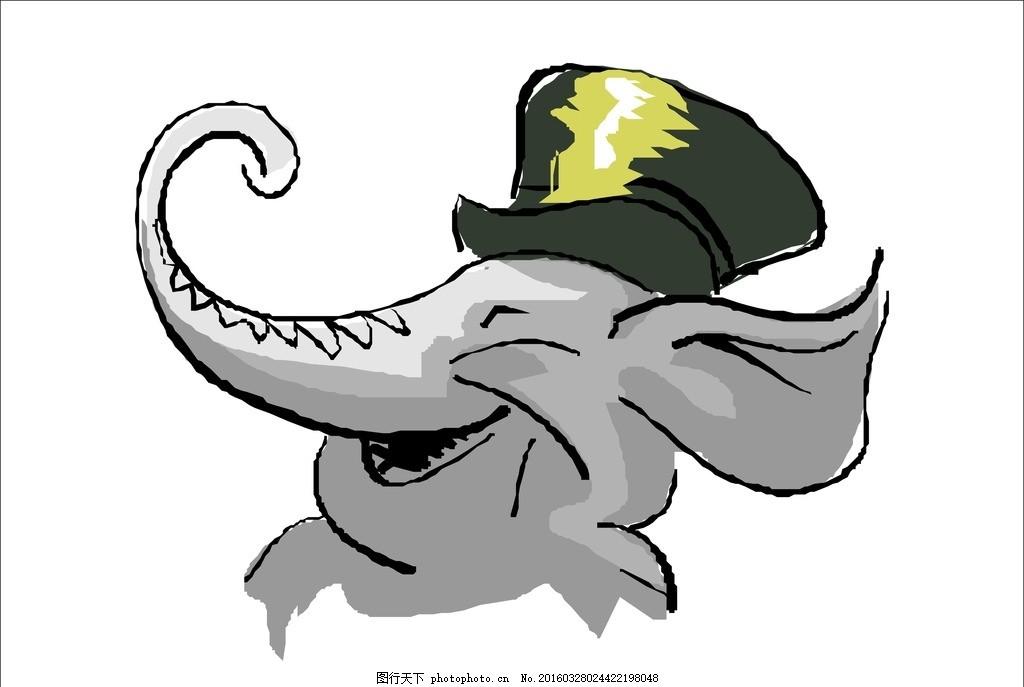 设计图库 生物世界 野生动物  象鼻 象头 象鼻 象 大象 大象标志 灰色