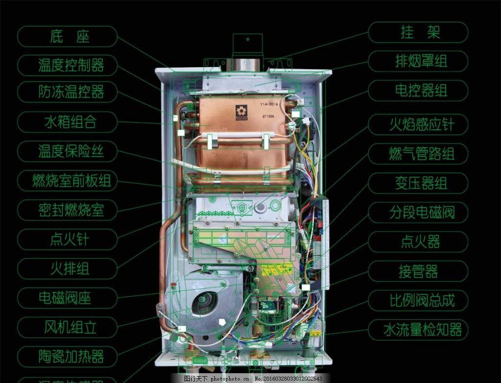 燃气热水器内部结构 热水器 燃气热水器 内部结构 樱花热水器 燃热