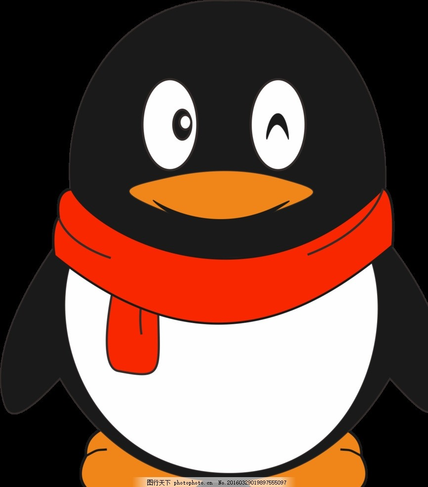 qq 企鹅 经典头像           cdr 设计 简画 卡通 设计 标志图标 公共