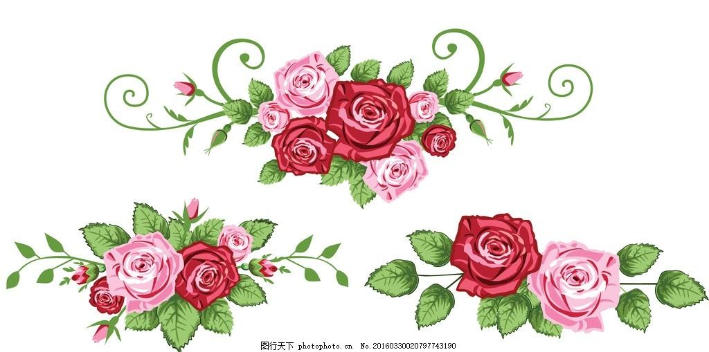 玫瑰 玫瑰花 手绘玫瑰 粉色 红色 精美花纹 玫瑰移门 玫瑰图案 梦幻