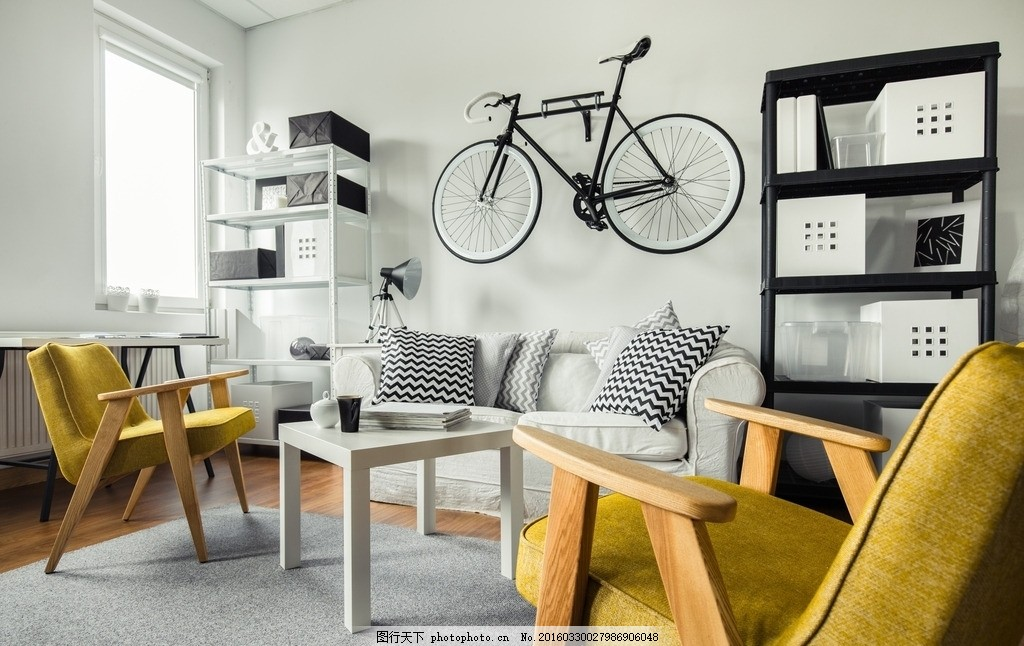 亮色创意家装 温馨 客厅 彩色 地板 墙面 家居 居住 地毯 木地板