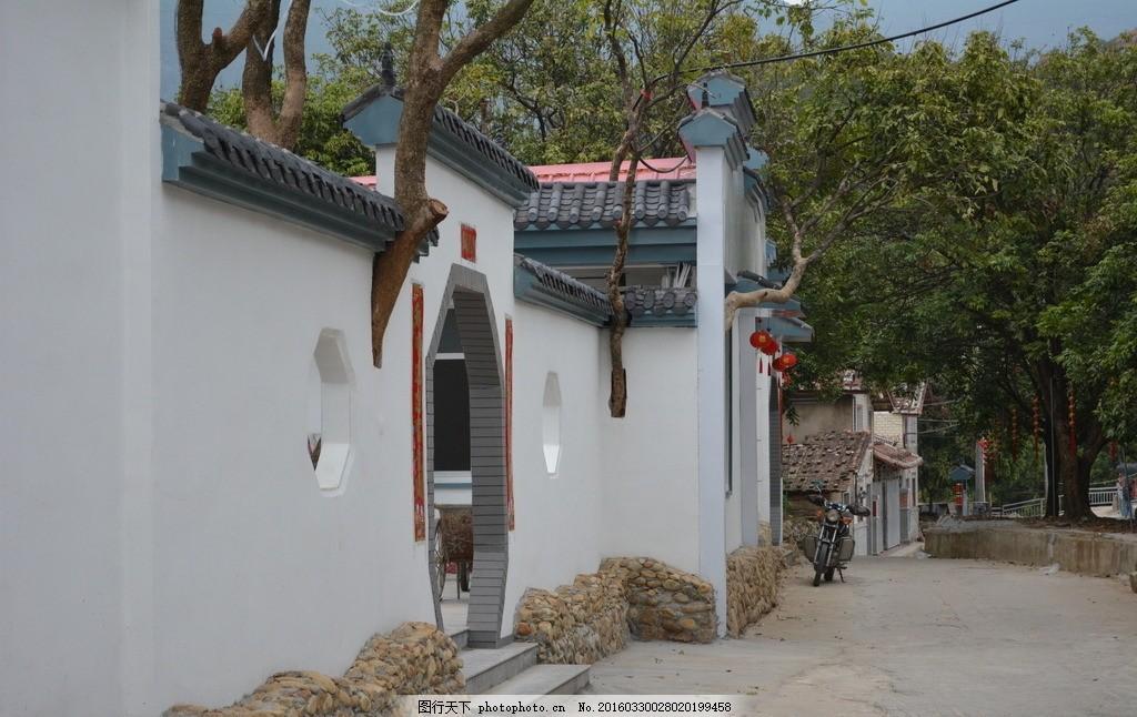 中式 庭院 树 徽式 天空 高清 摄影 建筑摄影 摄影 建筑园林 建筑摄