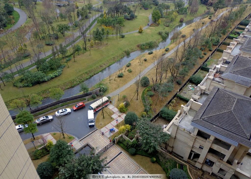 楼顶俯视 城市俯视 建筑 园林建筑 花园 历史 摄影 建筑园林