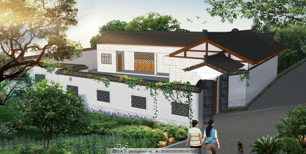 小院型别墅设计图纸