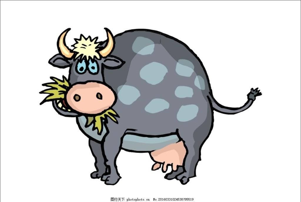 牛 卡通牛 小牛 可爱牛 牛牛 牛素材 牛矢量 小牛儿 母牛 形象牛 水牛